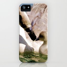 Egyptian goose and gosling iPhone Case