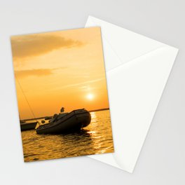Ships in the evening sun Stationery Cards