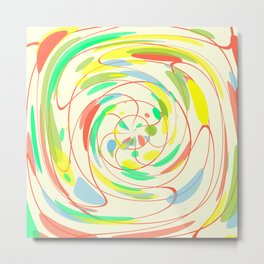 Bright colors abstract Metal Print