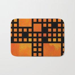 Visopolis V1 - orange flames Bath Mat
