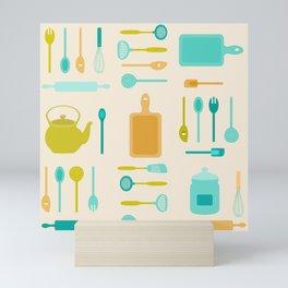 AFE Kitchen Utensils Pattern II Mini Art Print