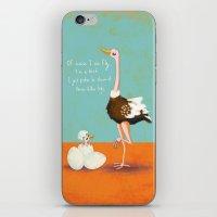 Confident Ostrich iPhone & iPod Skin