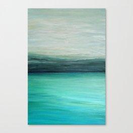 Aqua Abstract Seascape Canvas Print