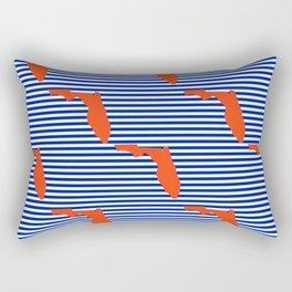 Florida university gators orange and blue college sports football stripes pattern Rectangular Pillow