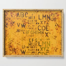 Letters for Jay (Yellow Abstract) Serving Tray