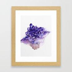 Amethyst Watercolor Framed Art Print