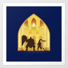 Ornstein and Smough (Dark Souls) Art Print