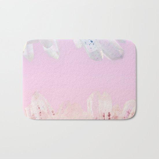 Serenity and Rose Quartz Crystals Bath Mat
