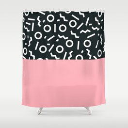 Pink Black Shower Curtains