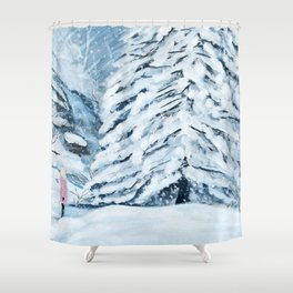 Secret snow garden Shower Curtain