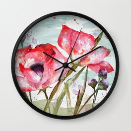 Poppies 05 Wall Clock