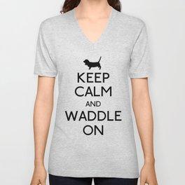 Keep Calm and Waddle On Unisex V-Neck