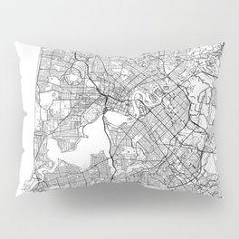 Perth Map White Pillow Sham