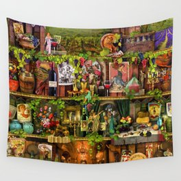 The Poetry of Wine Wall Tapestry