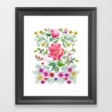 Bowers of Flowers Framed Art Print