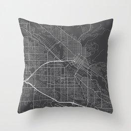 Boise Map, USA - Gray Throw Pillow