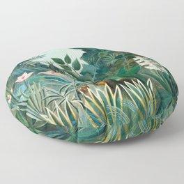 Henri Rousseau - The Equatorial Jungle Floor Pillow