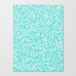 Tiny Spots - White and Turquoise Canvas Print