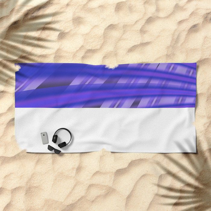 Fractal Play in Purplicious Beach Towel