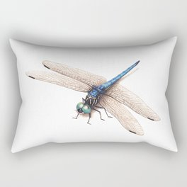 Dragonfly by Lars Furtwaengler | Colored Pencil / Pastel Pencil | 2014 Rectangular Pillow