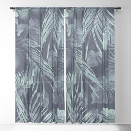 Tropical Jungle Leaves Dream #9 #tropical #decor #art #society6 Sheer Curtain