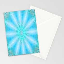 Let the Sun Shine Mandala (tropical blues) Stationery Cards