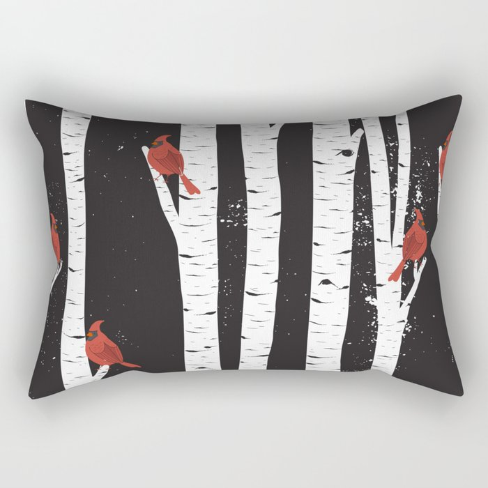 Northern Cardinal Birds Rectangular Pillow