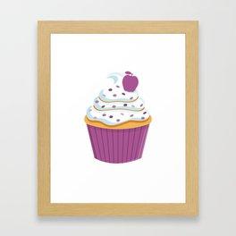 Cartoon Cupcake Framed Art Print