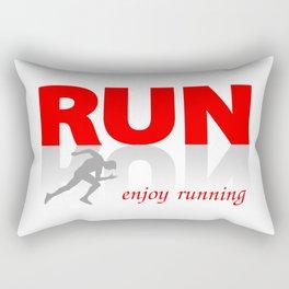 Enjoy running Rectangular Pillow