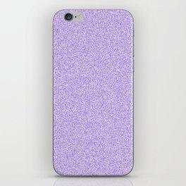 Melange - White and Dark Pastel Purple iPhone Skin