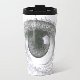 Grayscale eye Travel Mug