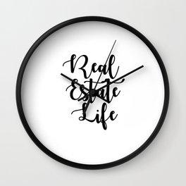 Real Estate Life Wall Clock