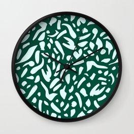 Deep Emrald #pattern #illutsration Wall Clock