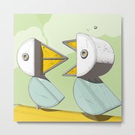 two birds with one meteorite Metal Print