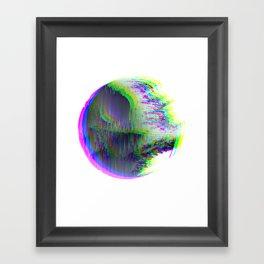 Death Star Glitch Wars Framed Art Print