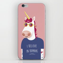 I believe in Humans iPhone Skin