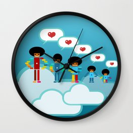 Jacksons Pixel Art Wall Clock