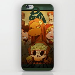 """Temple of Gloom"" - Moss Version - Dungeons & Doritos iPhone Skin"