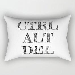 CTRL ALT DEL Rectangular Pillow