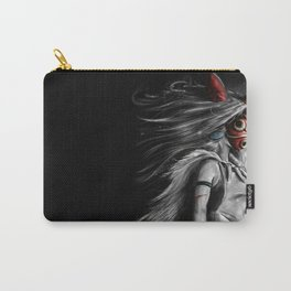 Miyazaki's Mononoke Hime Digital Painting the Wolf Princess Warrior Color Variation Carry-All Pouch