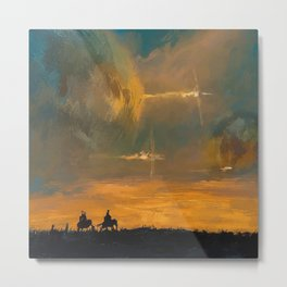 Spaceships in the Night Sky Metal Print