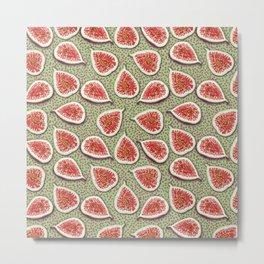 Figs Pattern Metal Print