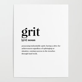 Grit Definition Poster