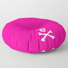 SKULL - HOT PINK & WHITE Floor Pillow