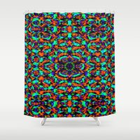 spaceman Shower Curtains featuring Spaceman by Ruth Shaffer Art and Designs