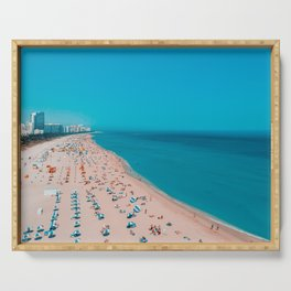 Turquoise Ocean Miami Beach Serving Tray