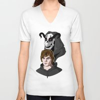 kris tate V-neck T-shirts featuring Tate Langdon by Cécile Appert