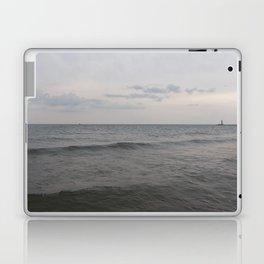 Distant Lighthouse on Lake Michigan Laptop & iPad Skin