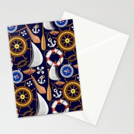 Nautical Marine and Navy Equipment Pattern Stationery Cards