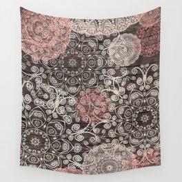 HAPPY GO LUCKY - BOHO WOOD Wall Tapestry